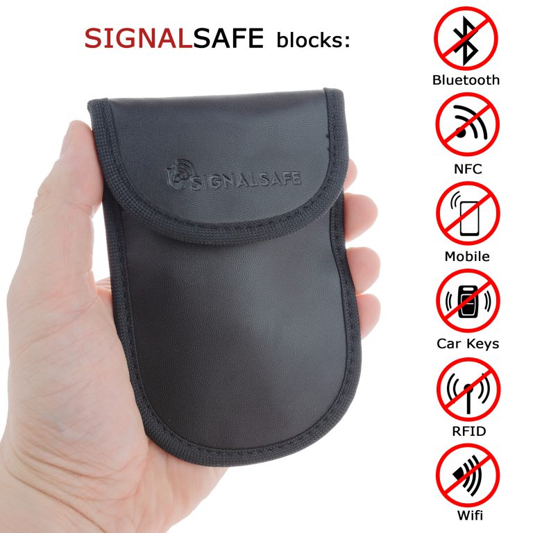 Lifestyle product photography with info graphic for Signal Safe