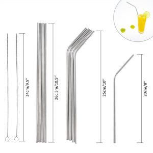 Straws lifestyle product photography with infographic