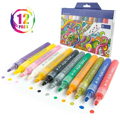 Acrylic Paint Markers product photography