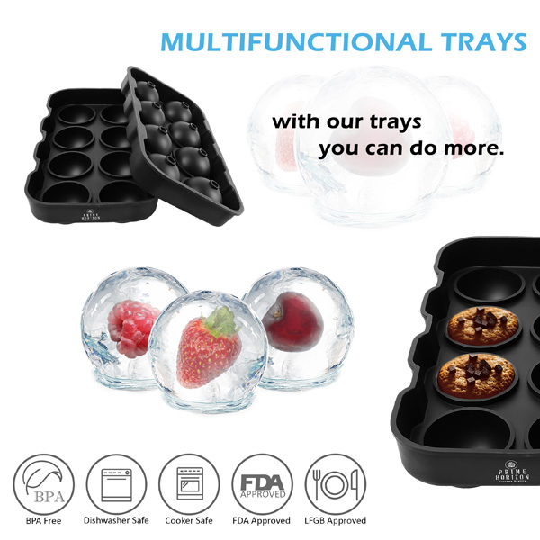 Ice tray product photography info graphic