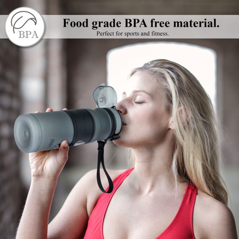 Product photography for sports bottle with lifestyle image