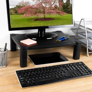 lifestyle product photography of monitor stand